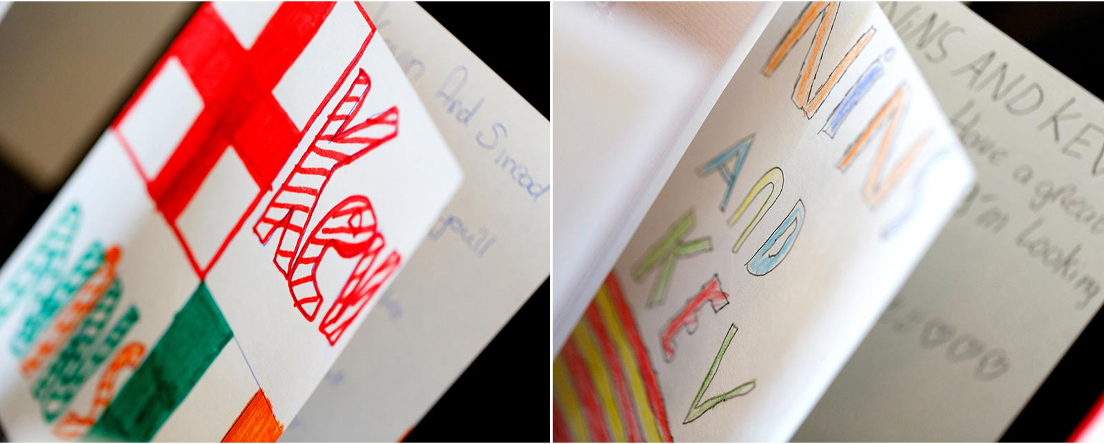 personalised wedding cards by kids