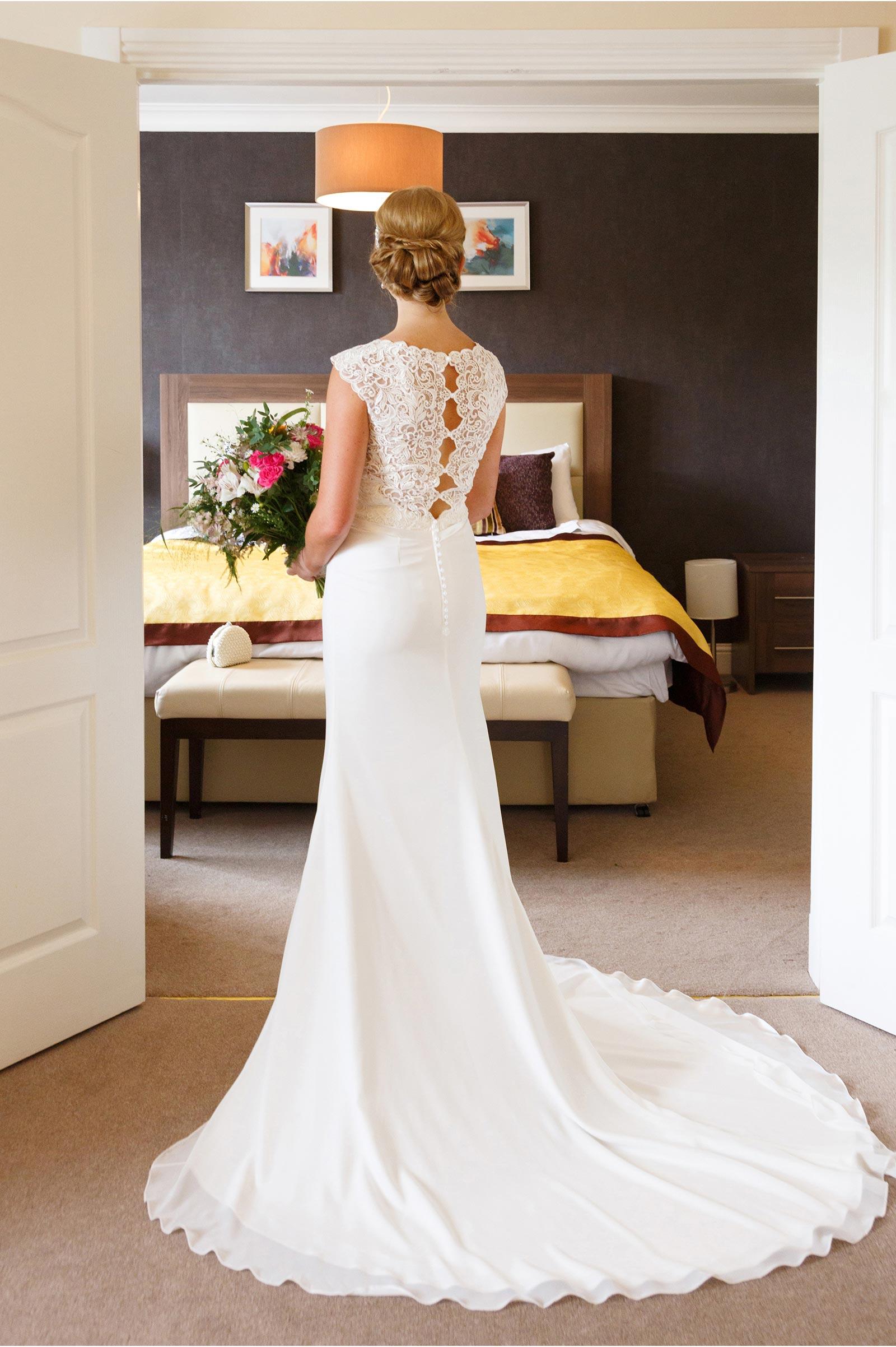 back of dress bridal bliss blackpool kingsley hotel cork
