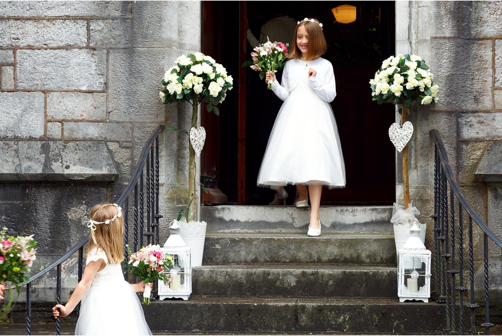 flower girls, UCC, Aula Maxima, Cork, wedding