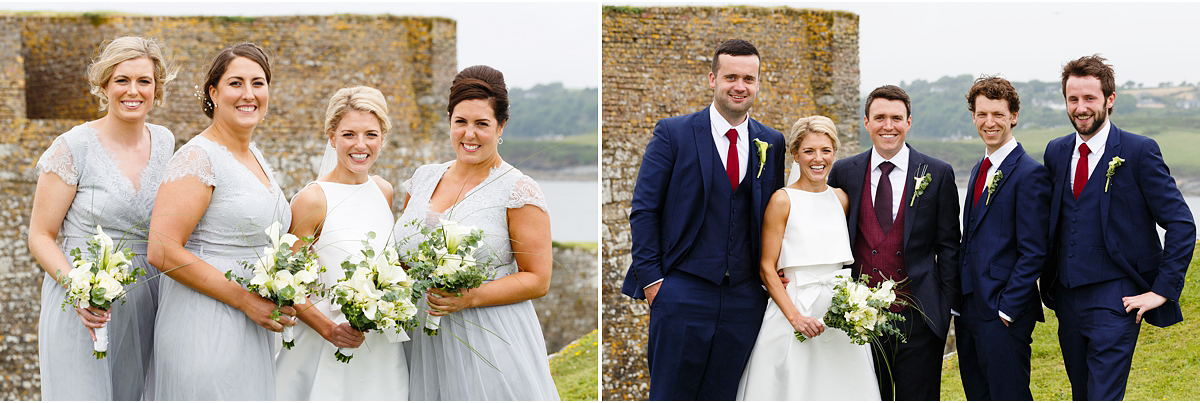 wedding party at Charles Fort in Kinsale