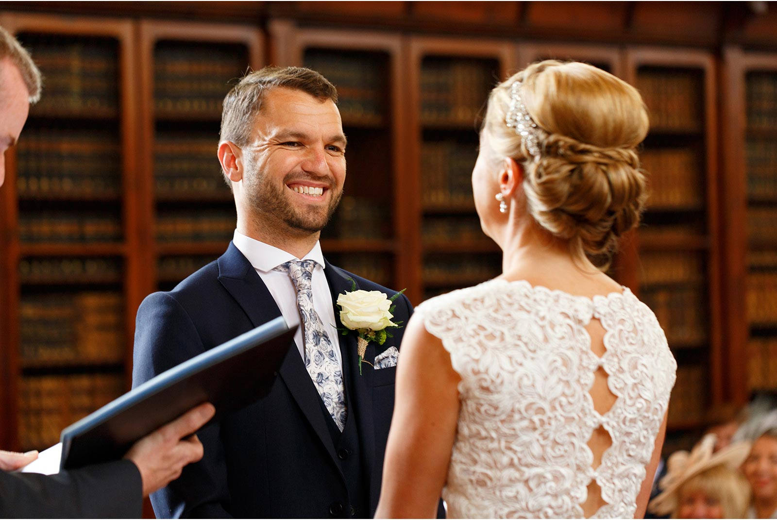 exchanging wedding vows, UCC Aula Maxima, Cork