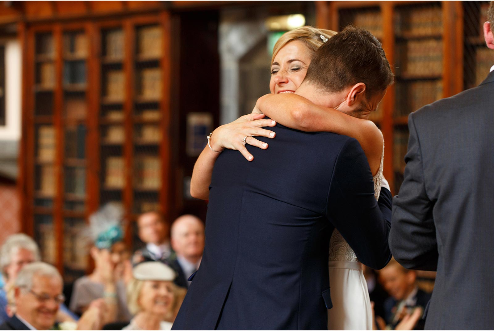 just married, UCC, Aula Maxima Cork, wedding