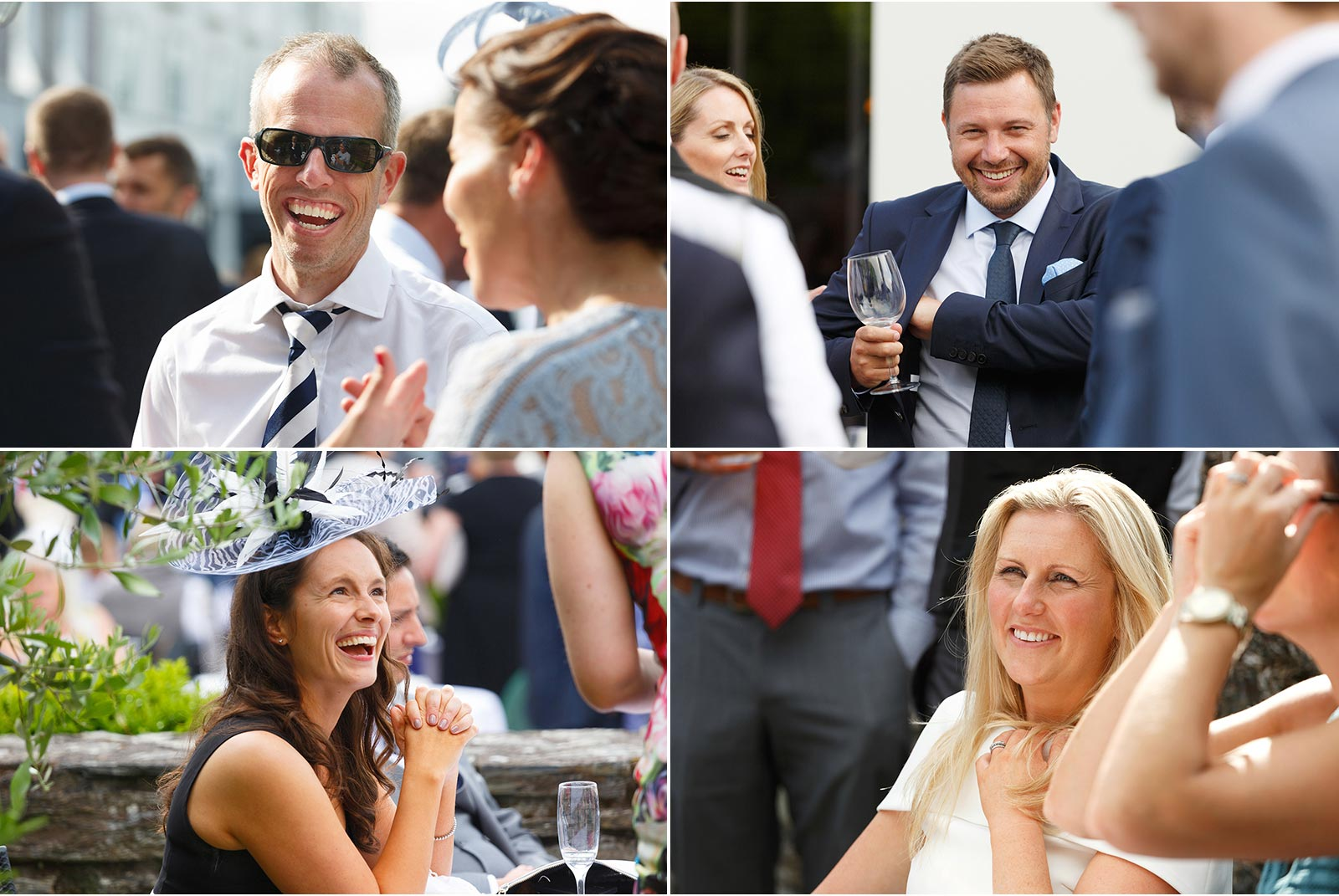 Candid wedding photography Cork, wedding guests, drinks reception, Actons hotel Kinsale