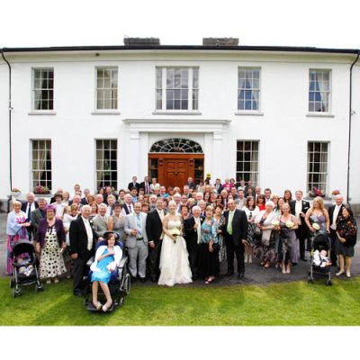 Big group photo at Springfort Hall