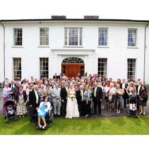 Big group photo at Springfort Hall