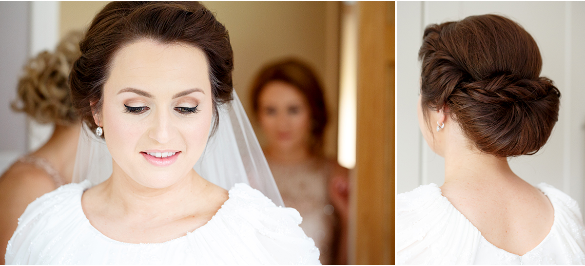 elegant bridal hair and makeup