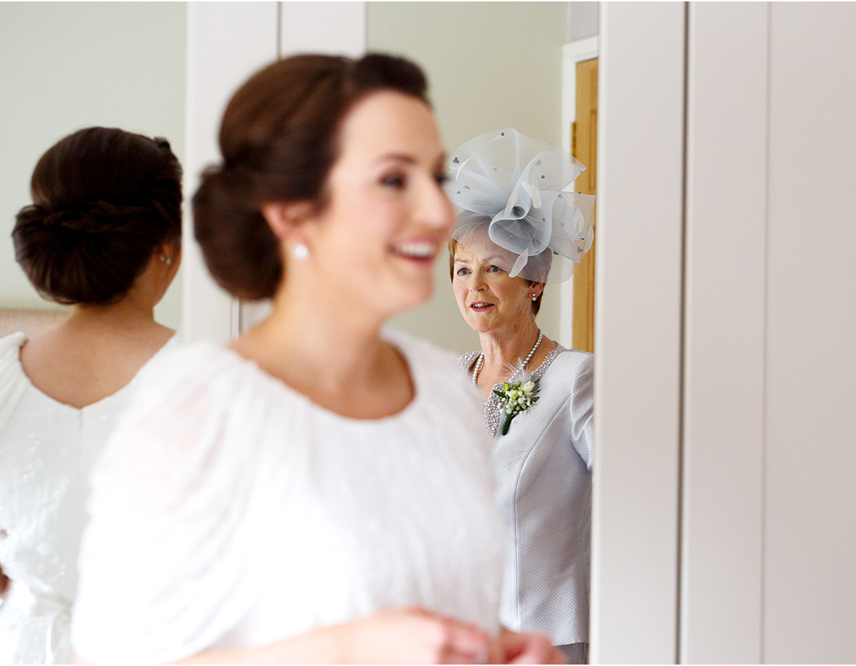 bride and mother - documenty wedding photography cork