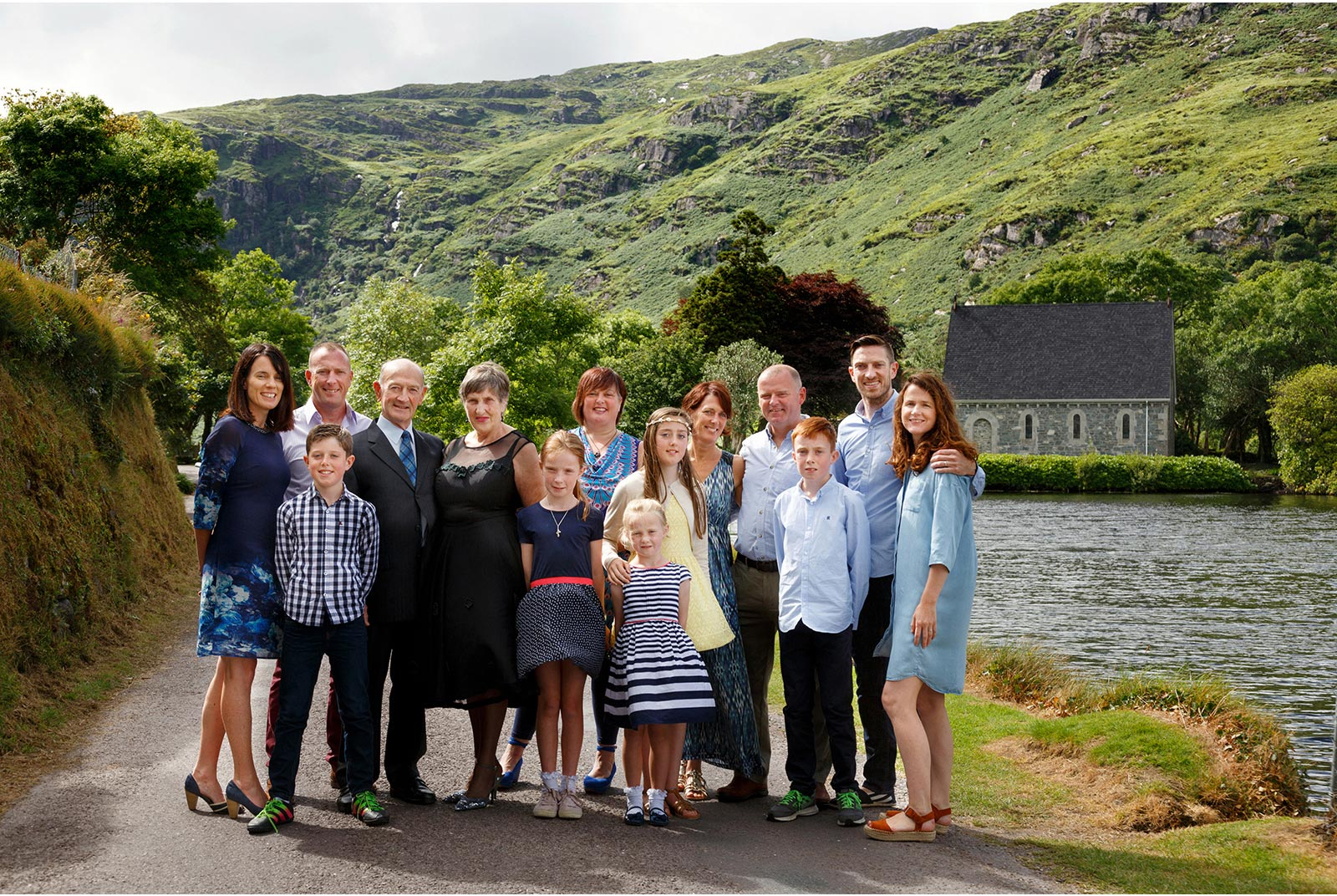 3 generations in family photograph at Gougane Barra