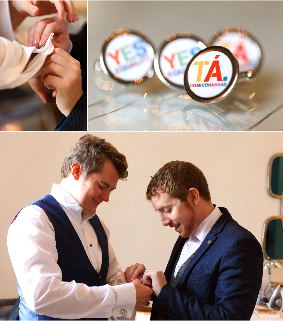 gay wedding cuff links