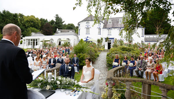 outdoor wedding ceremony Cork