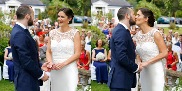 outdoor wedding ceremony in Cork