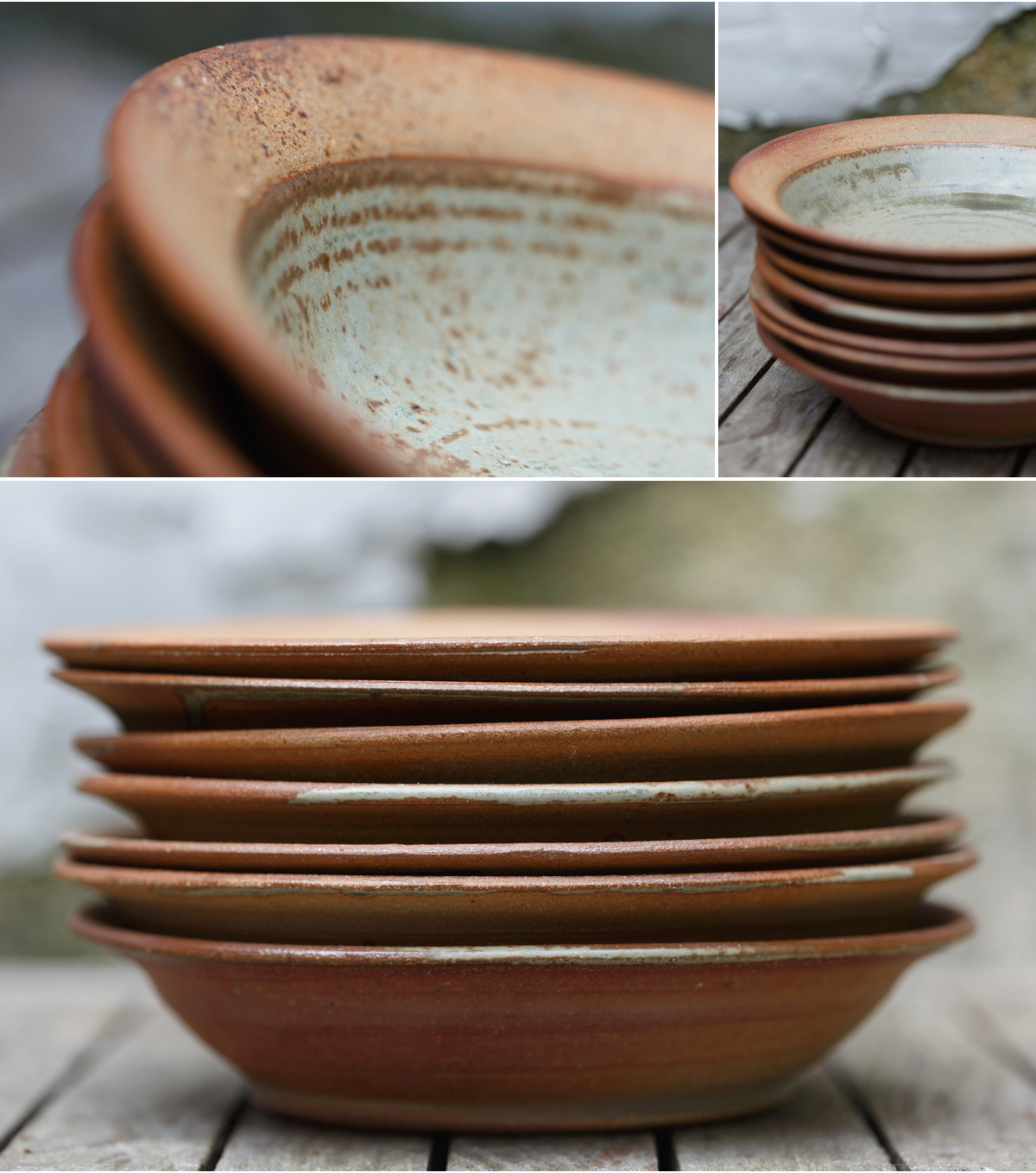 hand made pasta bowls by potter John Naughton - Photography for creatives Ireland