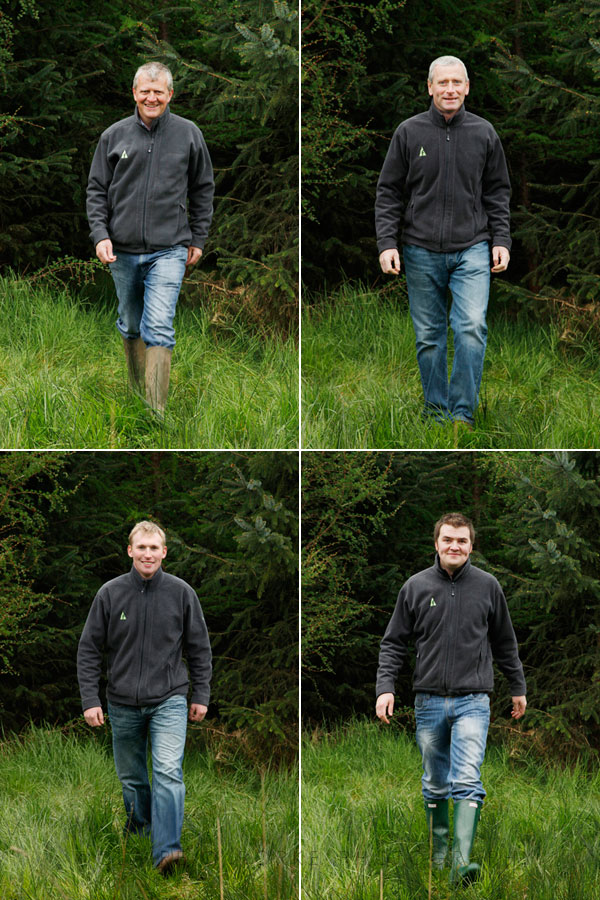 Profile photographs for individuals in a forestry company