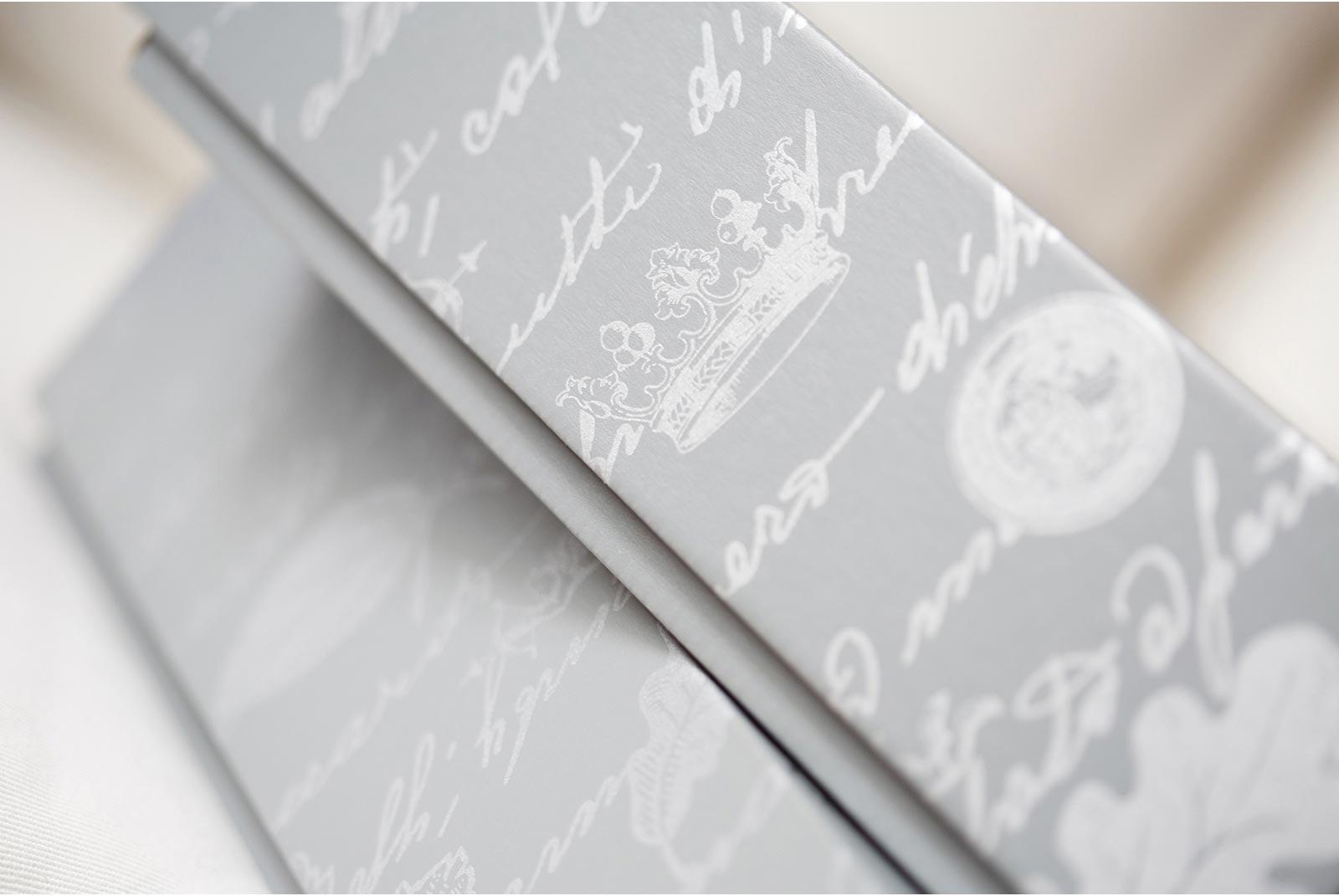 Queensberry packaging wedding album