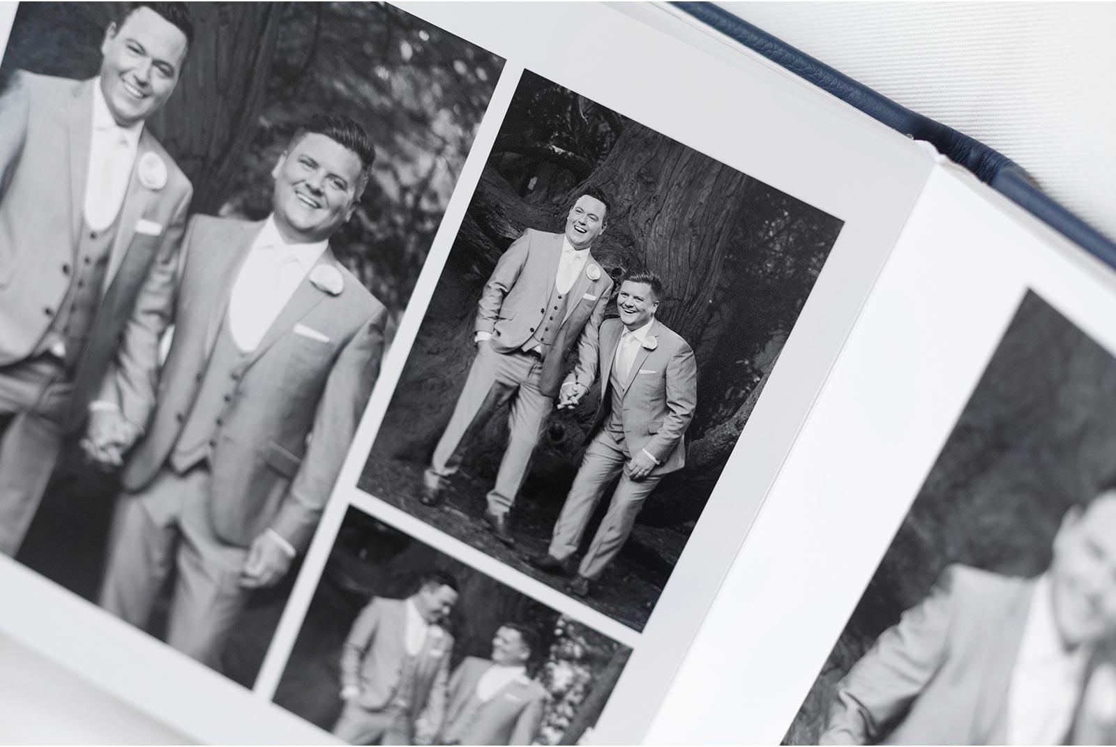 a flush mounted Queensberry wedding album