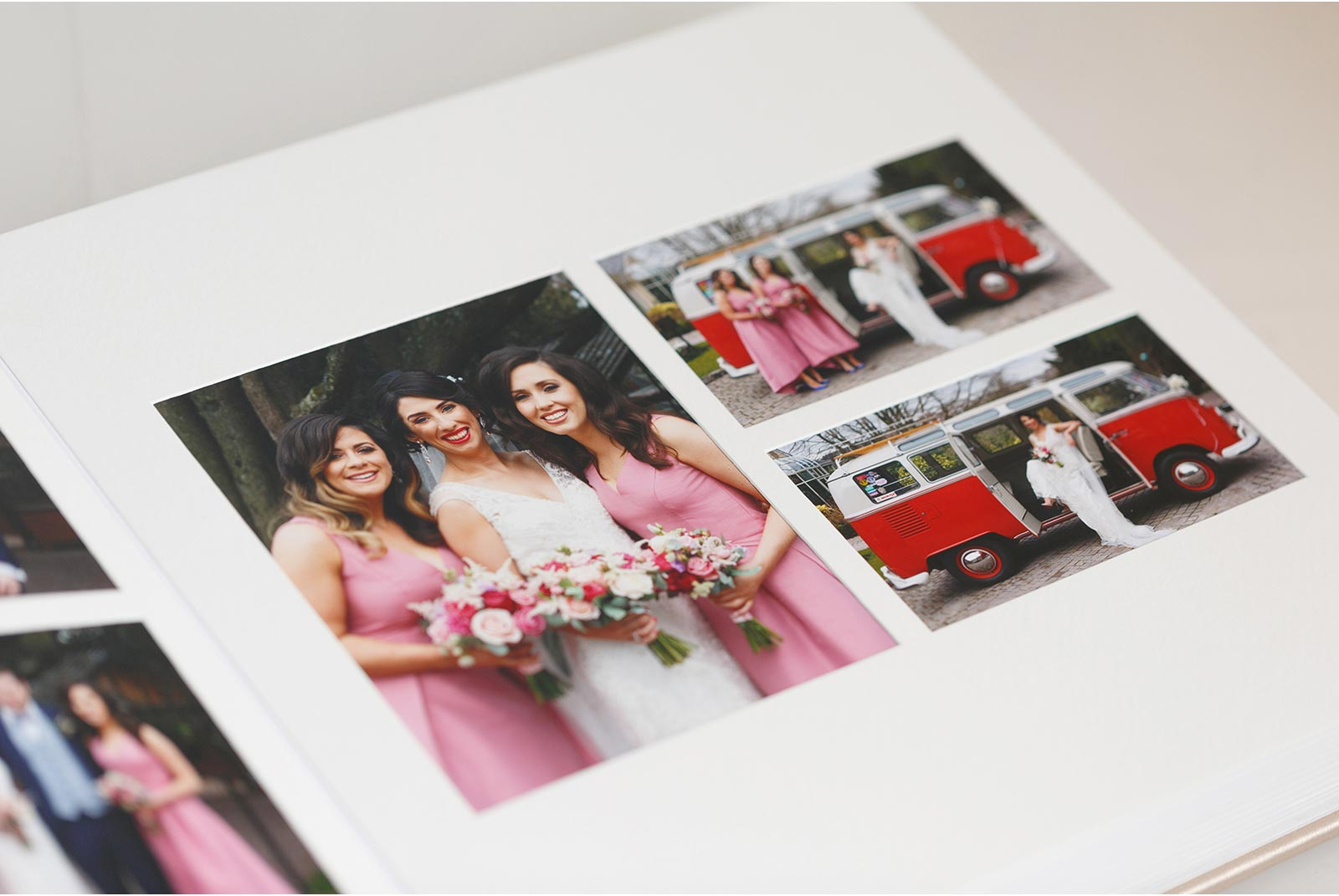 Matted pages in a Queensberry wedding album