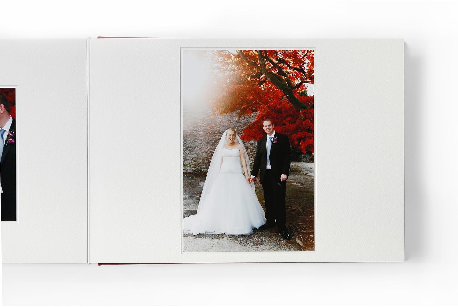 page mount in Queensberry Duo wedding album