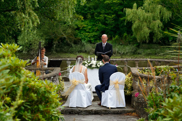 wedding ceremony by the river in Innishannon