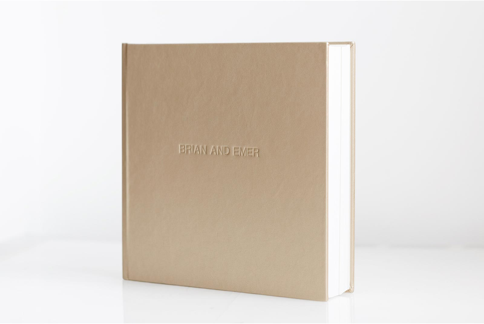 Queensberry blind embossed wedding album